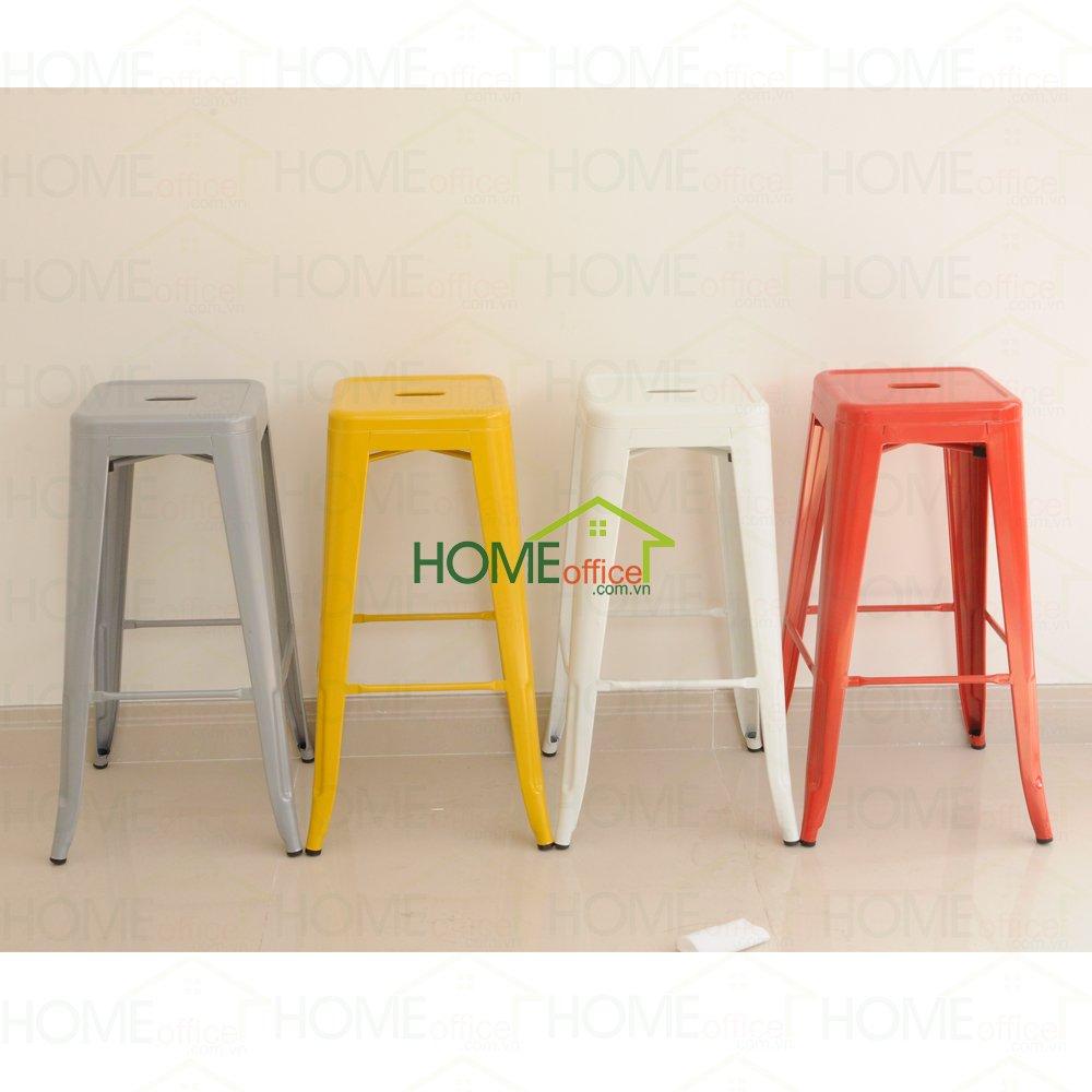 ghế tolix cao có lưng tựa nhiều màu