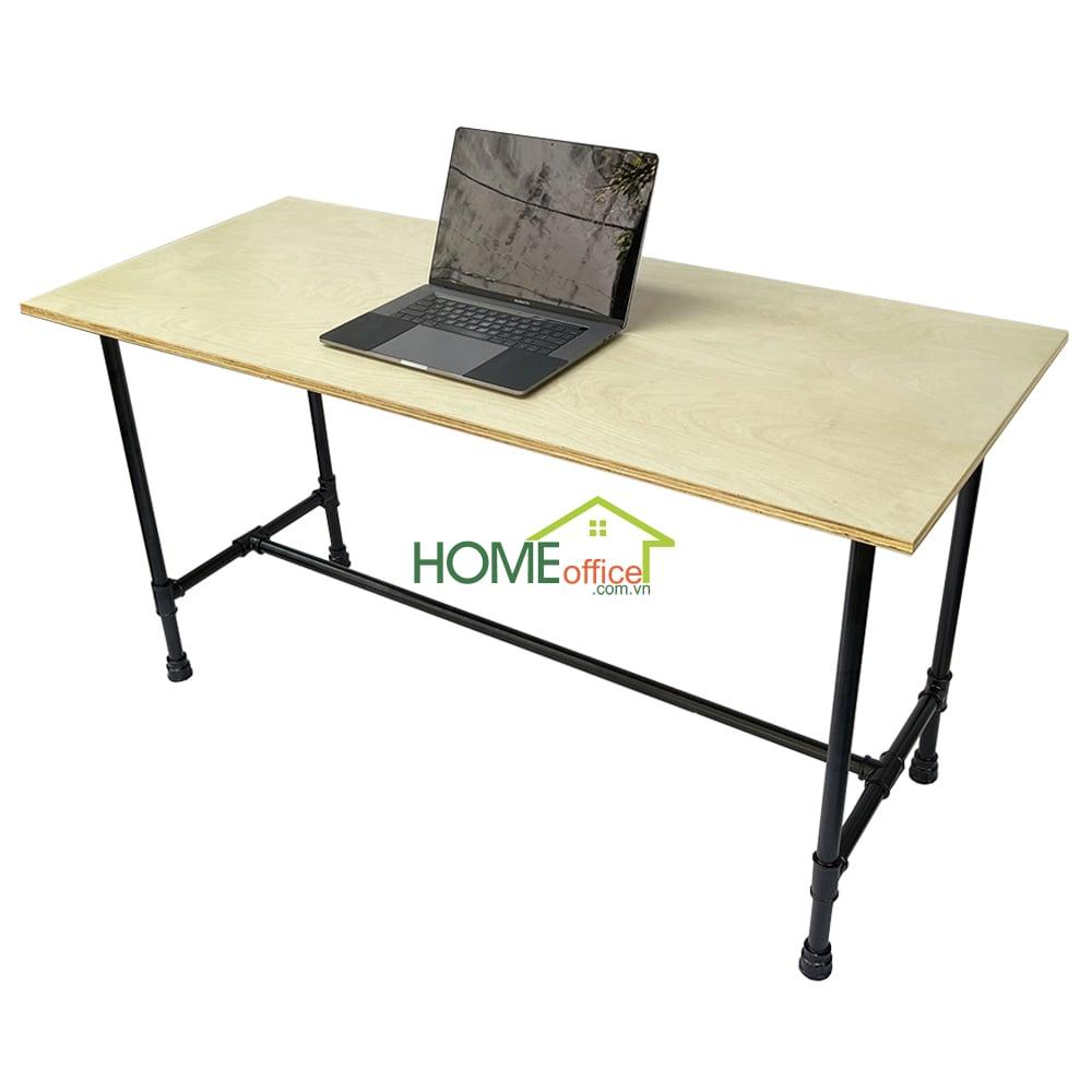 bàn làm việc 140x60cm mặt gỗ chân ông nước