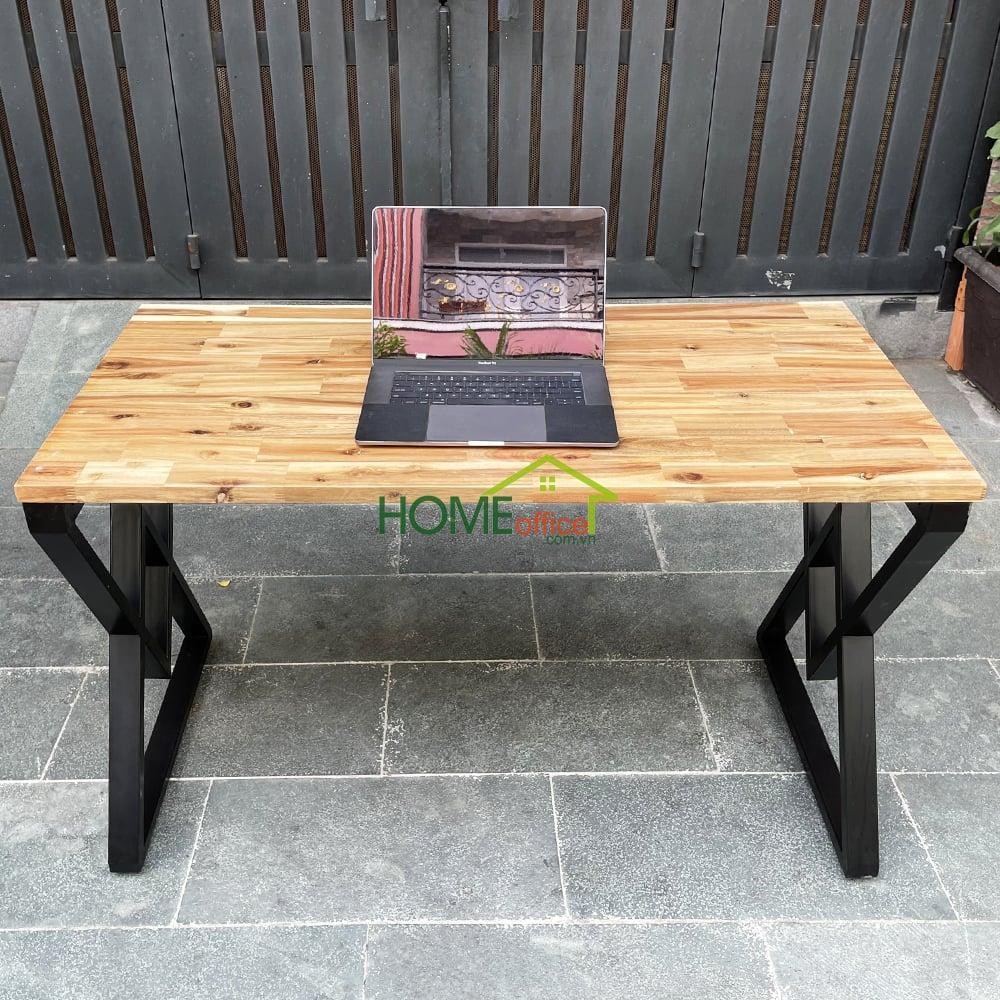 bàn mặt gỗ chân sắt lắp ráp sơn tĩnh điện