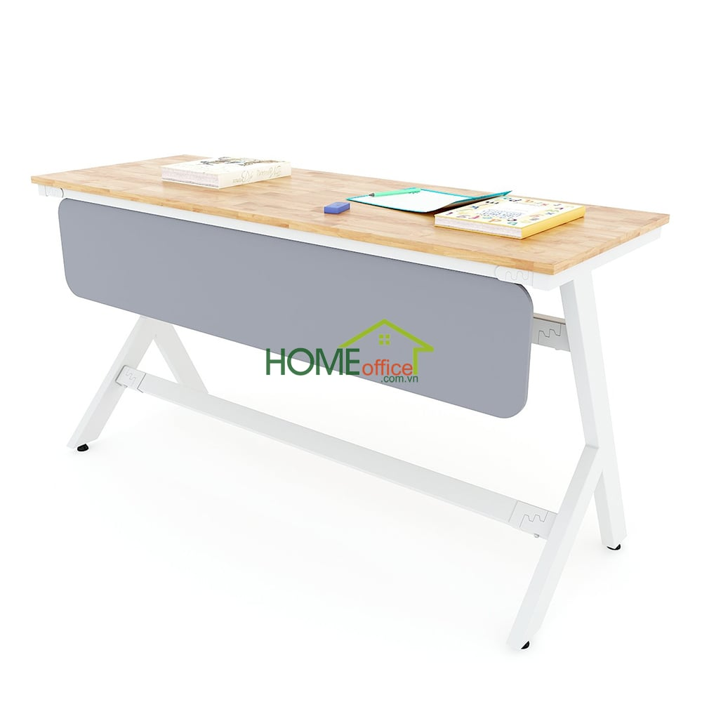 bàn học đôi gỗ cao su chân sắt