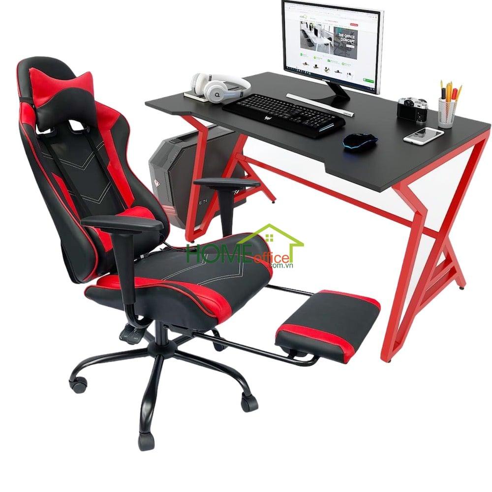 Bộ bàn và ghế chơi Game sắc đỏ