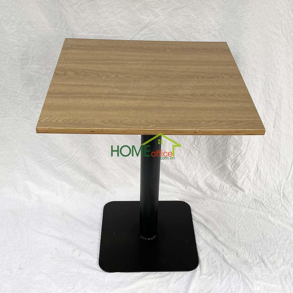 bàn cafe vuông gỗ plywood chân chân sắt