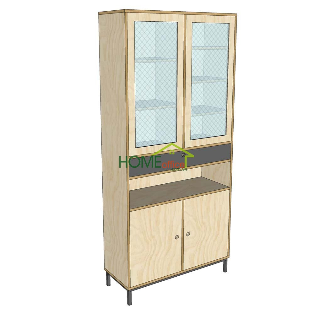 tủ gỗ cửa kính tủ trưng bày