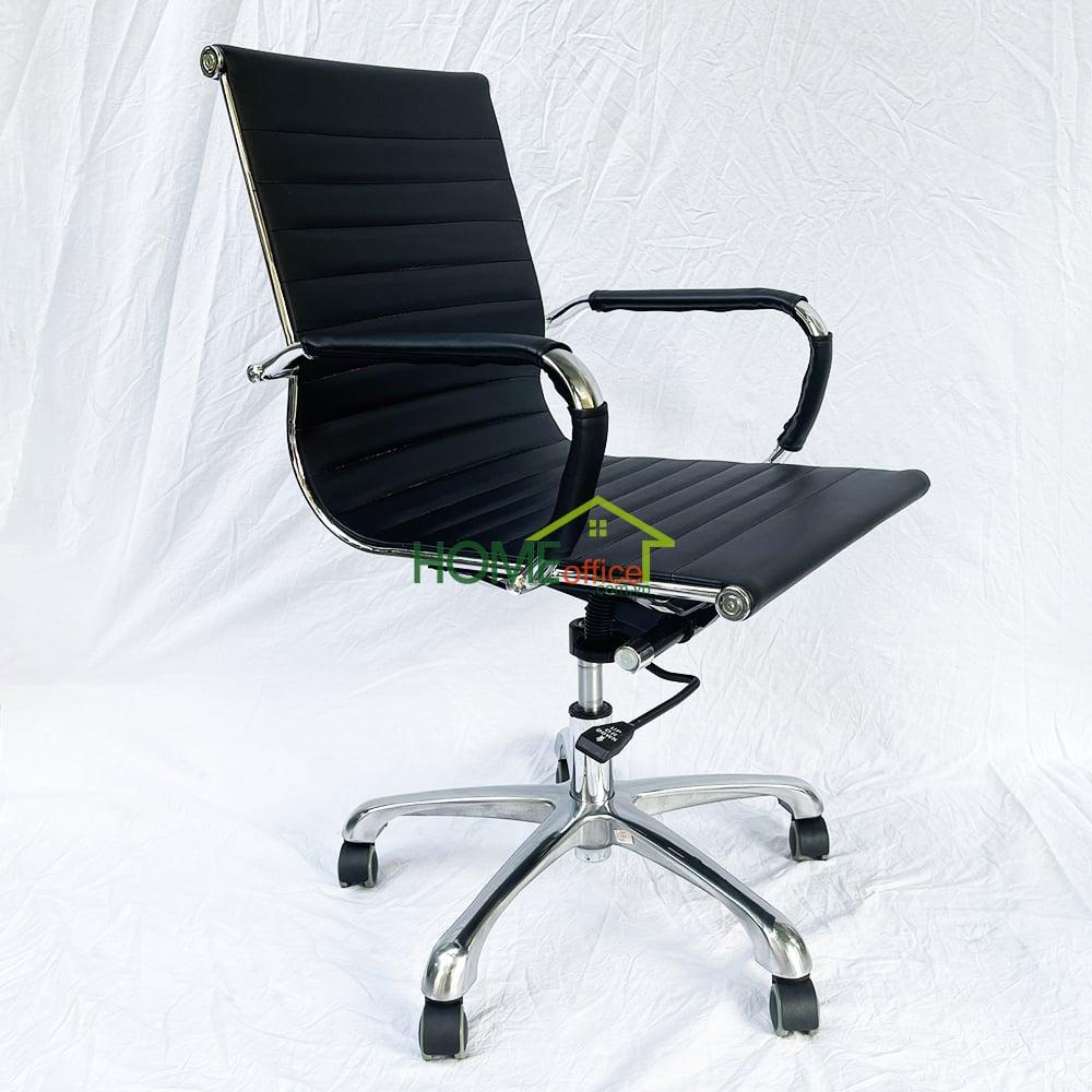 Ghế văn phòng lưng thấp bọc simili cao cấp