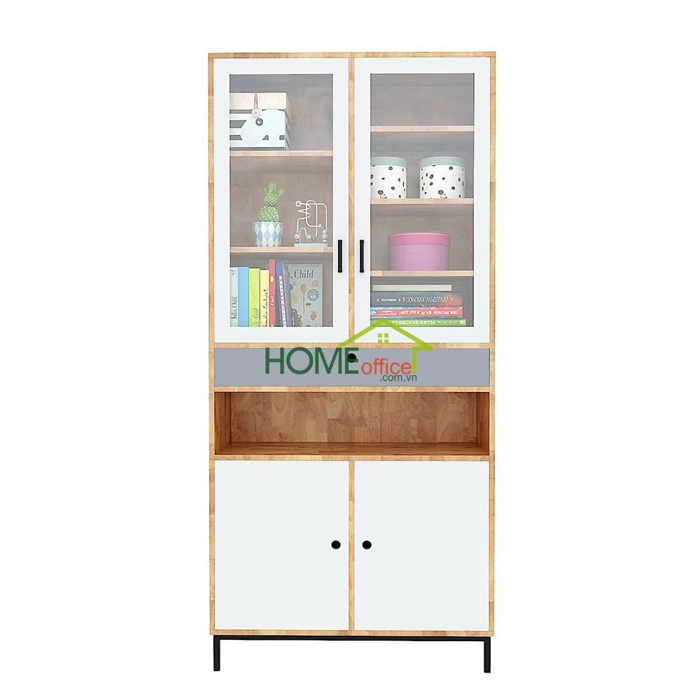 Tủ sách tủ trưng bày  gỗ tự nhiên