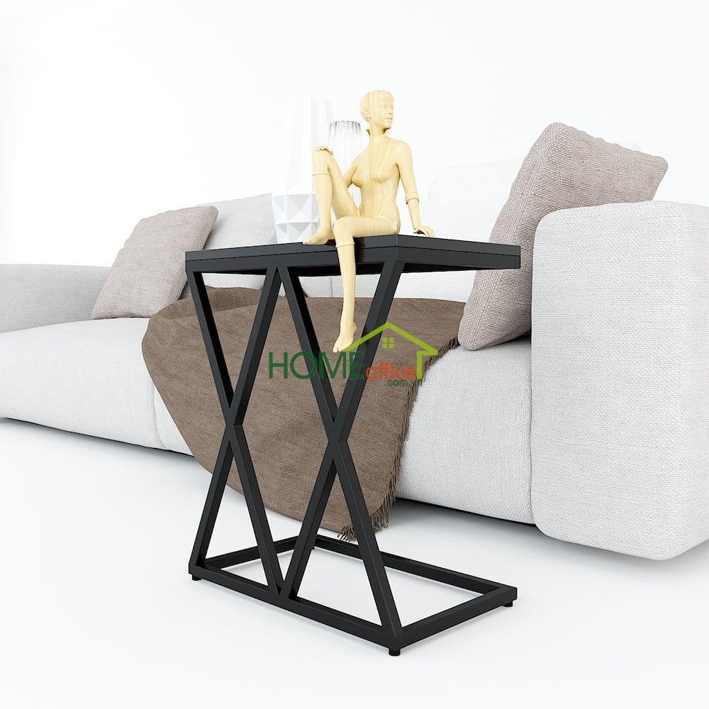 bàn bên sofa gỗ khugn sắt