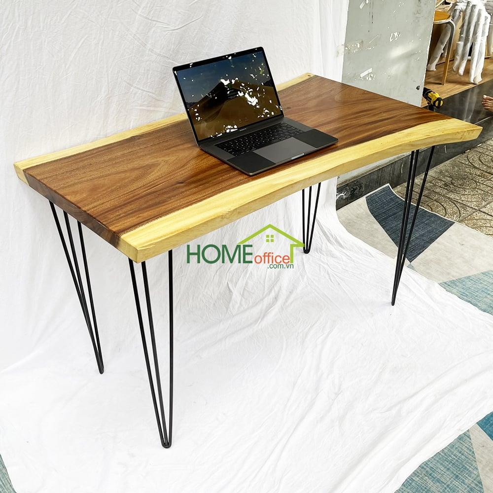 bàn làm việc gỗ me tây nguyên tấm