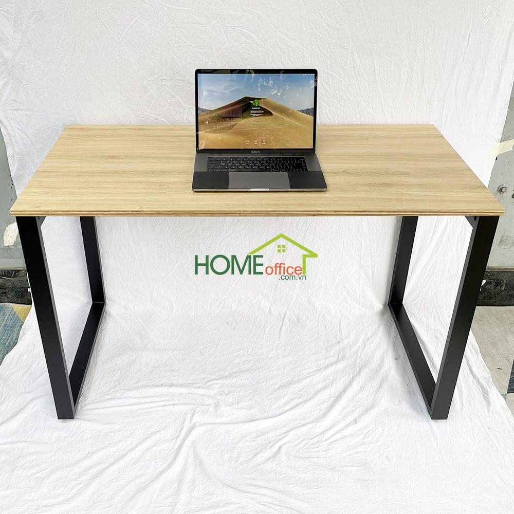 bàn làm việc mặt gỗ chân sắt
