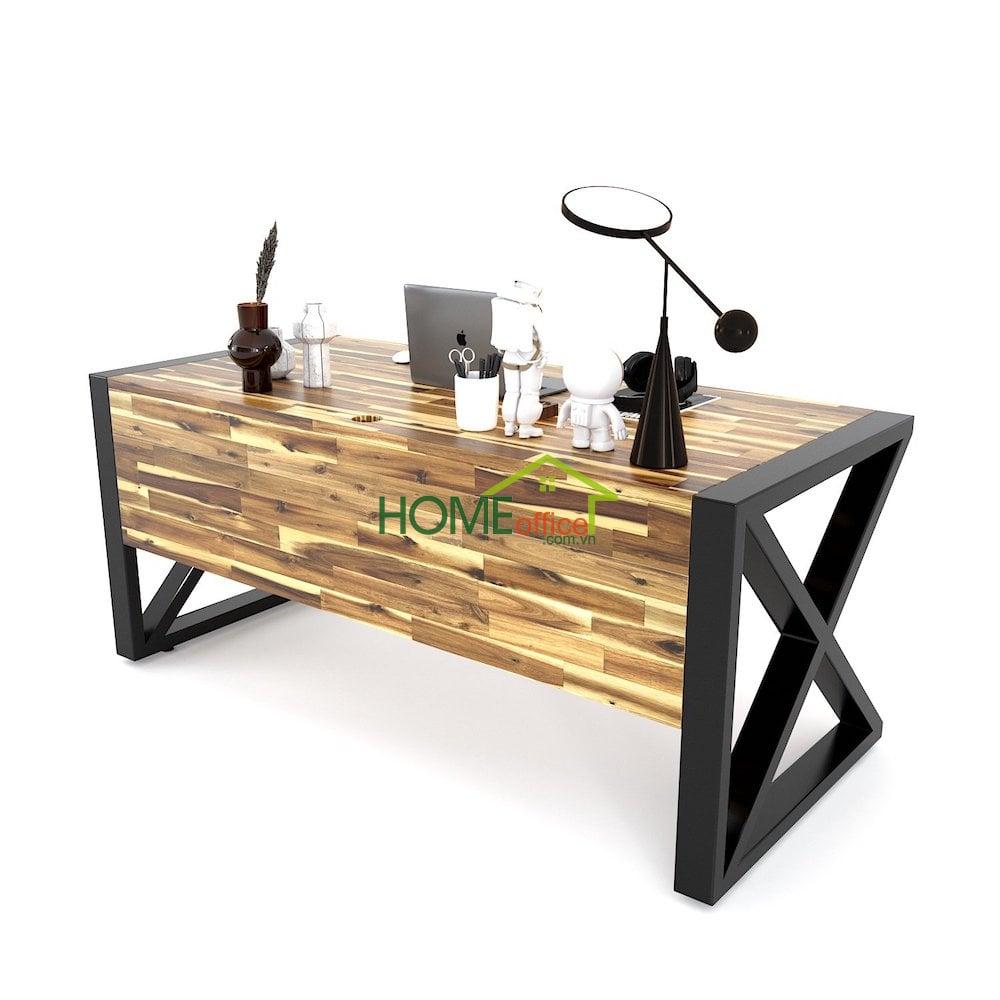 bàn giác đốc, bàn lãnh đạo gỗ tự nhiên hiện đại
