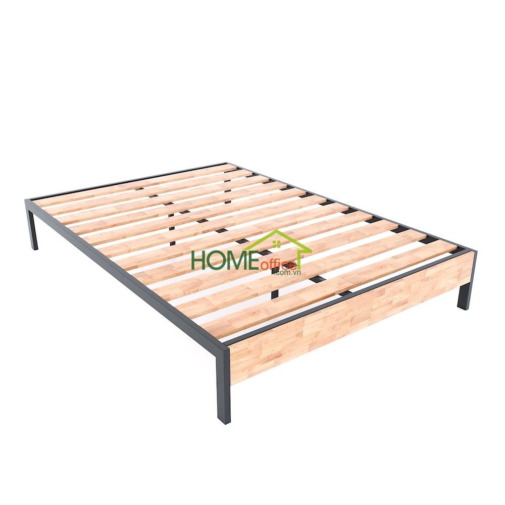giường ngủ đôi kiểu dáng đơn giản