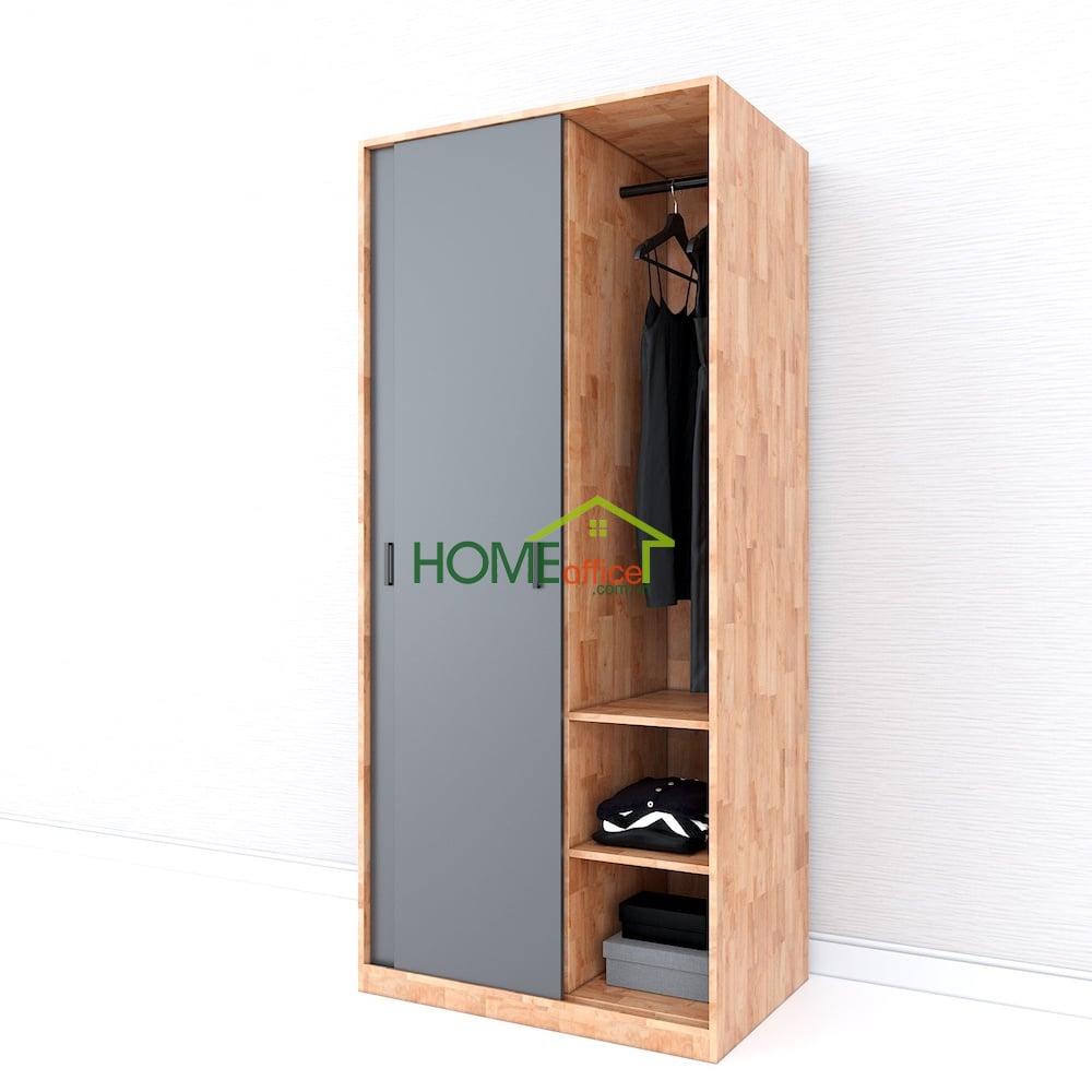 tủ quần áo hiện đại cửa lùa gỗ tự nhiên