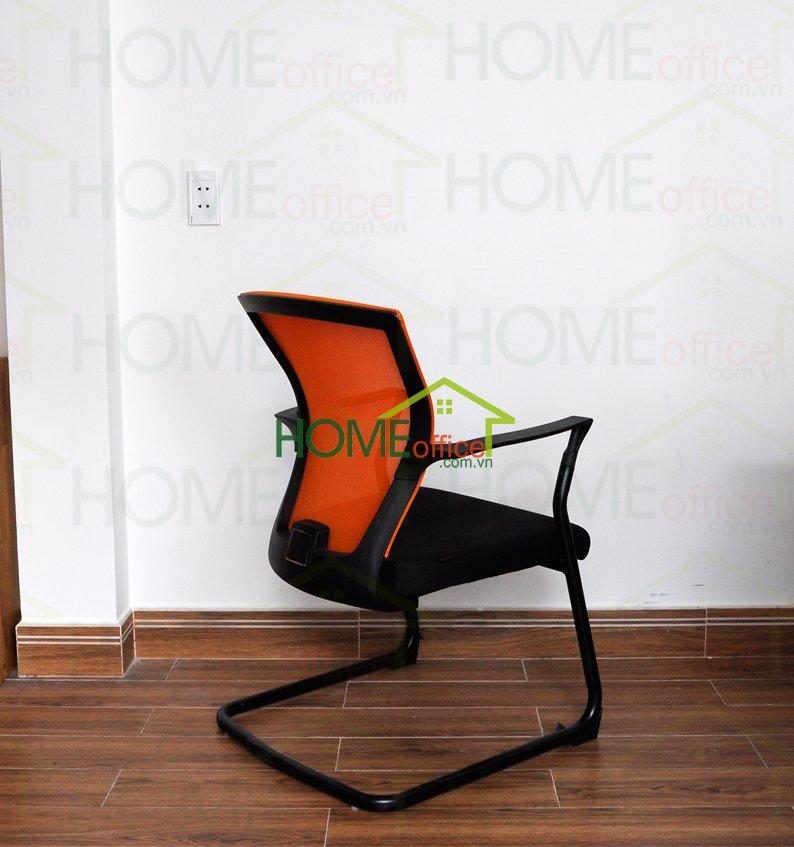 Ghế văn phòng chân quỳ lưng lưới màu cam HOGVP2017