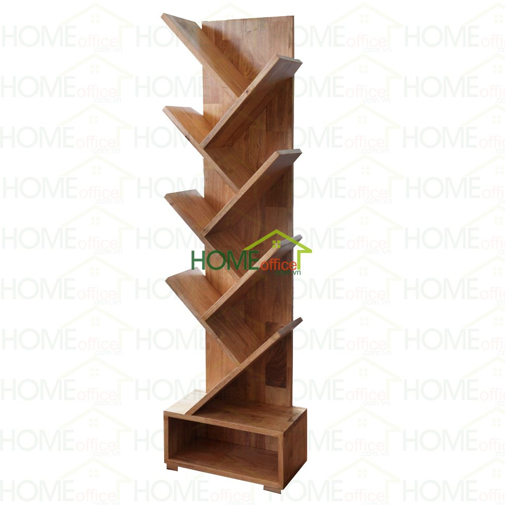 Kệ sách hình nhánh cây bằng gỗ cao su