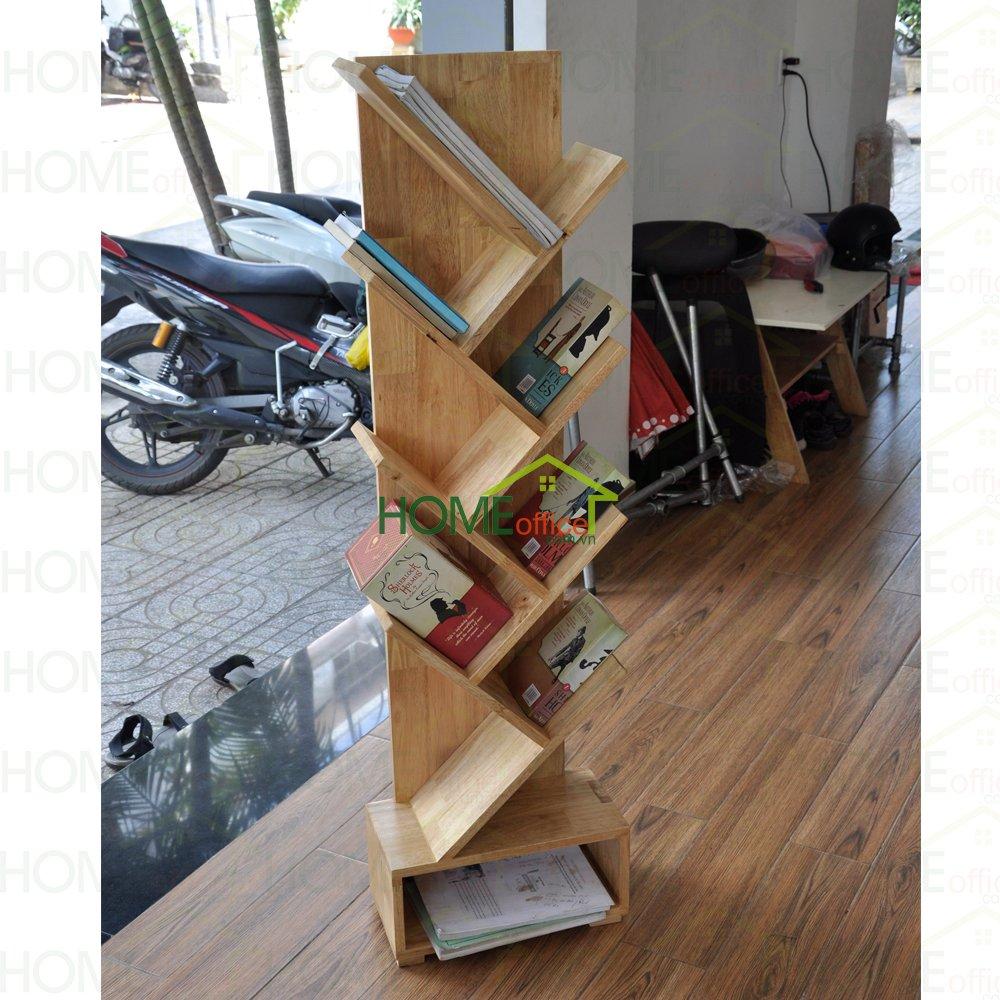 kệ sách gỗ hình cây