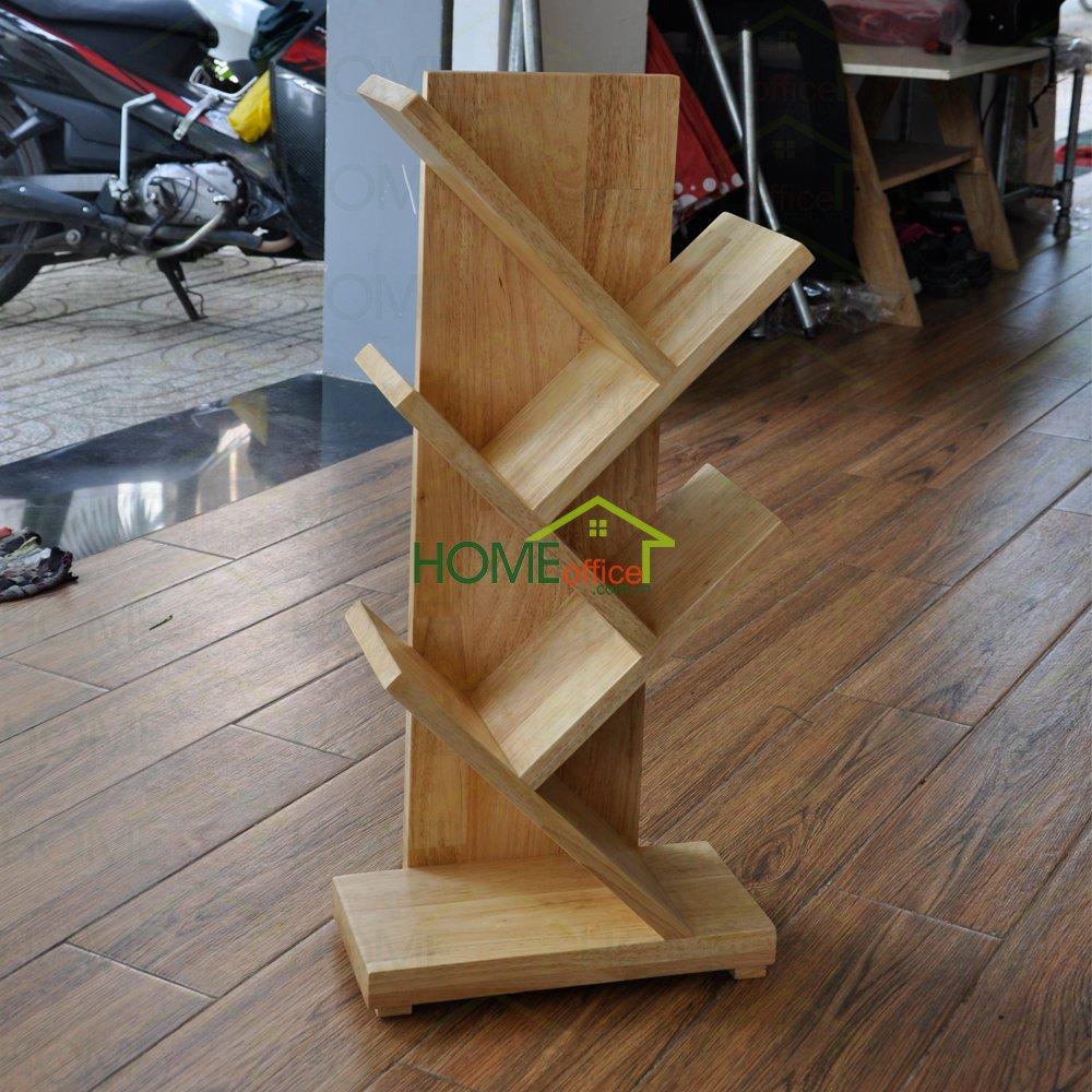 Kệ sách để bàn hình nhánh cây được làm bằng chất liệu gỗ cao su AA xuất khẩu