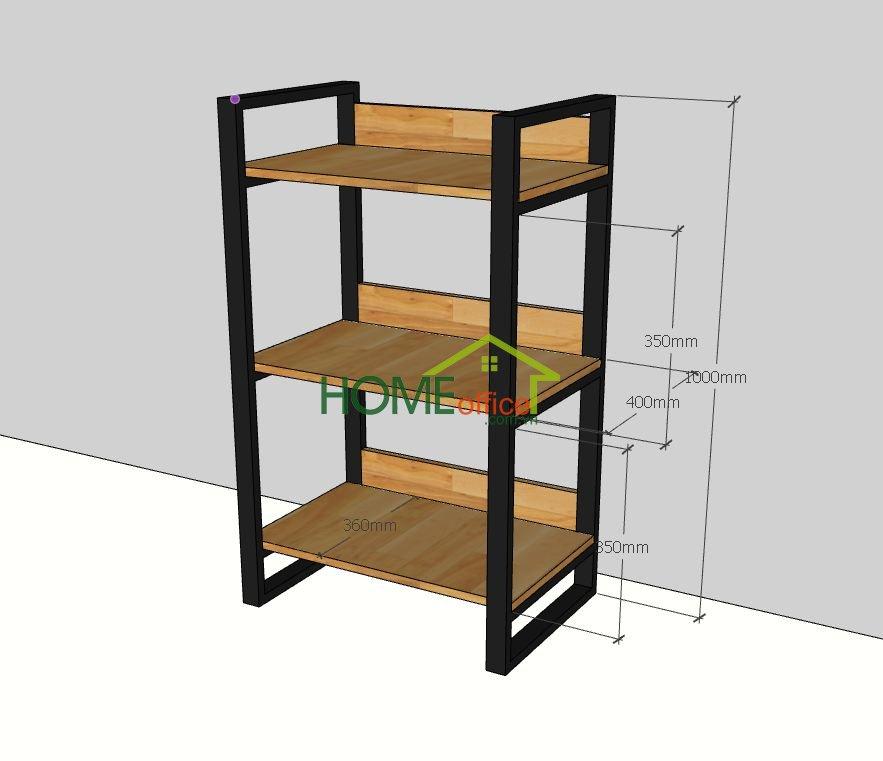 kích thước kệ gỗ khung sắt