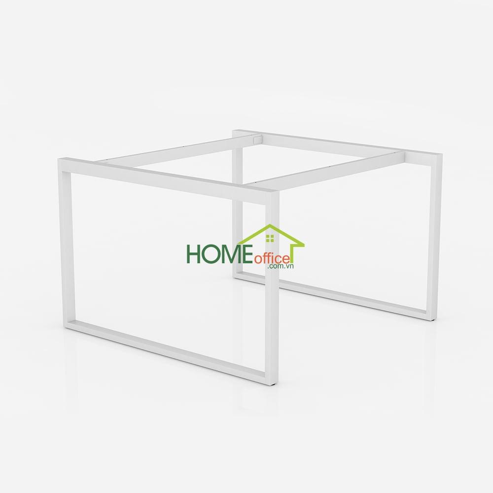 CVPN002 - Chân 25x50 bàn văn phòng khung hình vuông 2 người ngồi - 120x120x75 (cm)