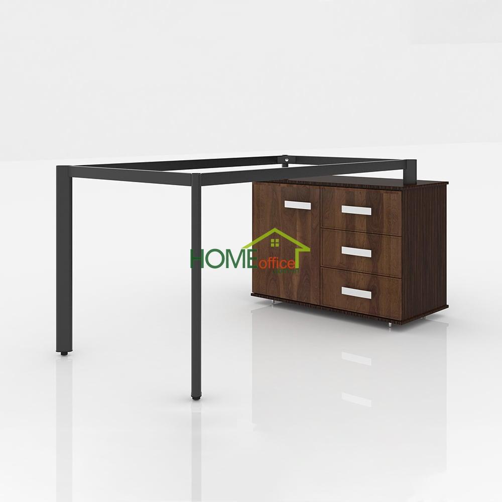 Chân Oval bàn giám đốc kết hợp tủ đựng hồ sơ