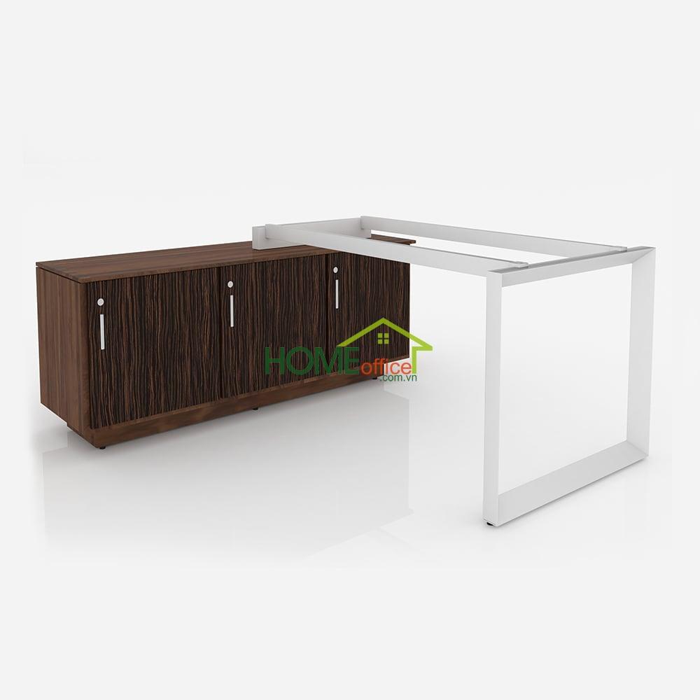 CVPQ009 - Chân tam giác quỳ bàn giám đốc kết hợp tủ hồ sơ văn phòng (không gồm tủ)