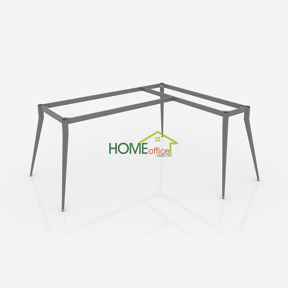 CVPC012 - Chân bàn văn phòng ống côn khung chữ L kích thước rộng - 140x120x75 (cm)