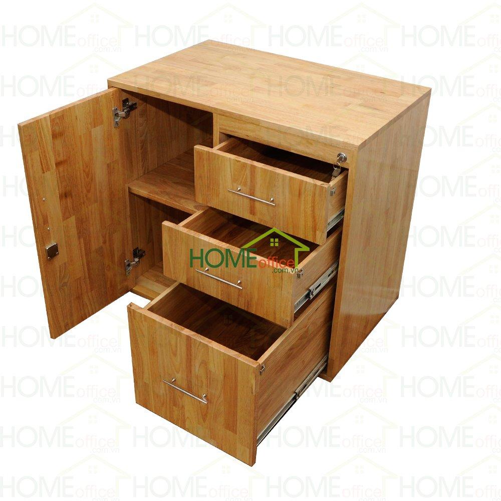 Tủ đưng hồ sơ văn phòng gỗ cao su