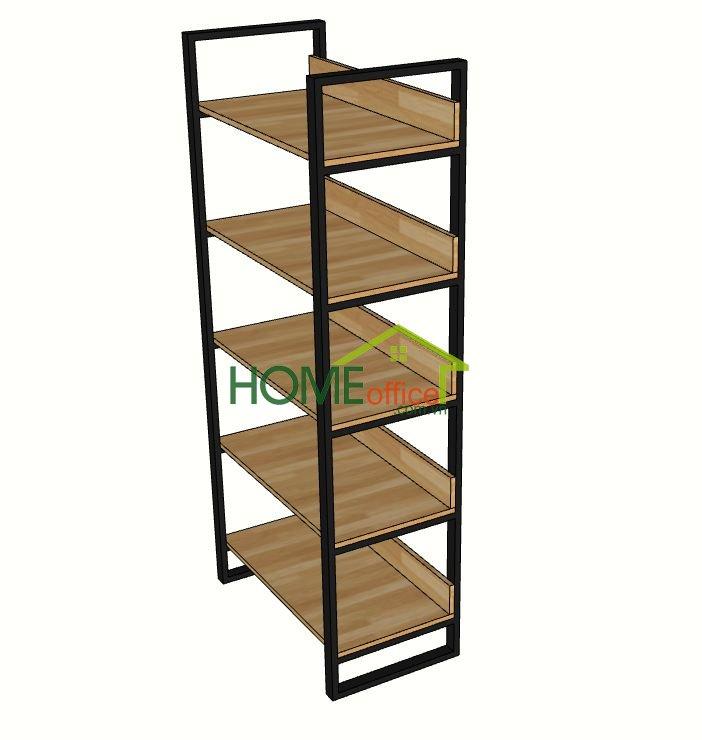 kệ sách gỗ cao su 5 tầng