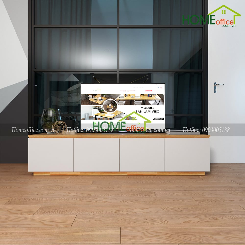 Kệ Tivi Phòng Khách Hiện Đại Bằng Gỗ KTV68010