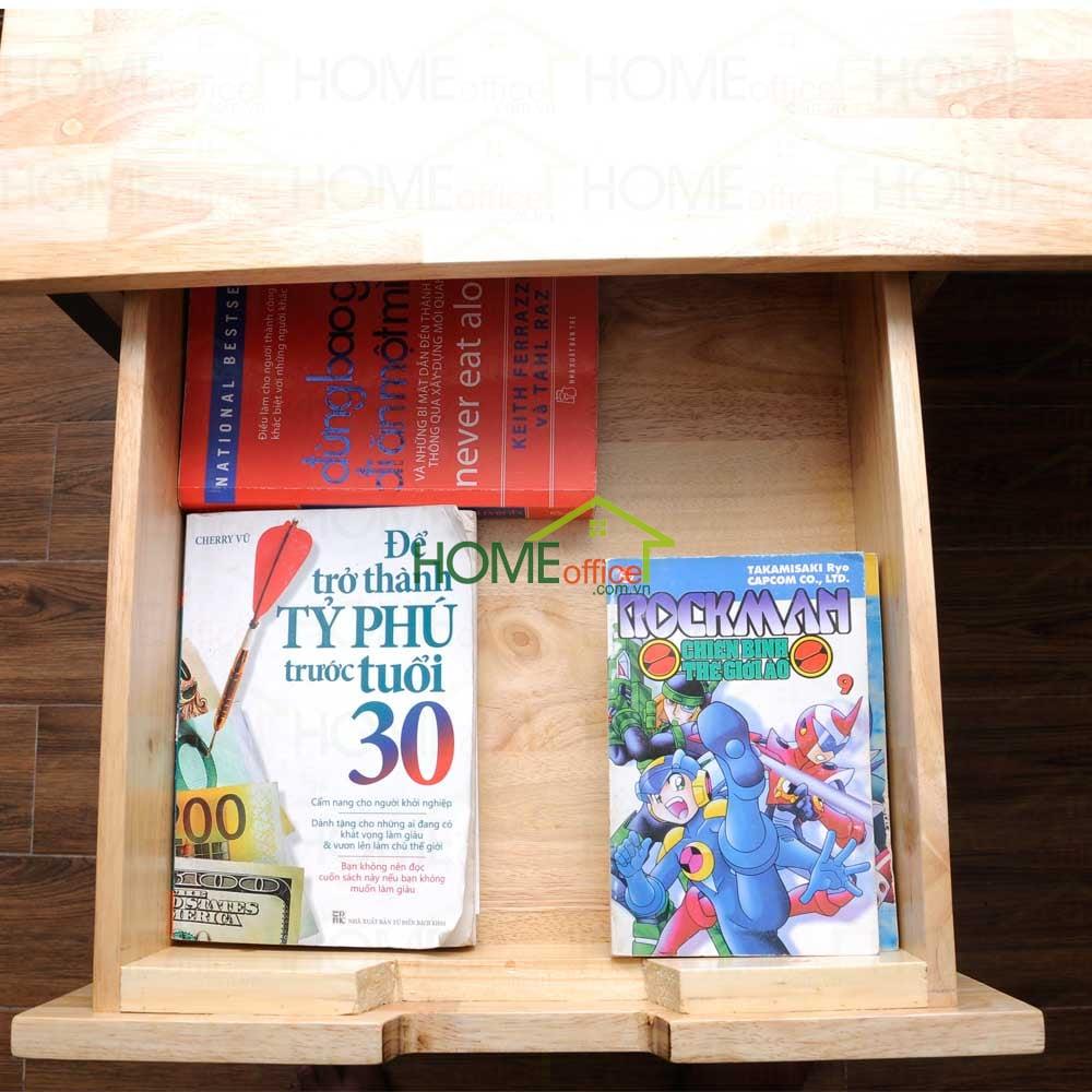 ngăn kéo bàn học gỗ cao su