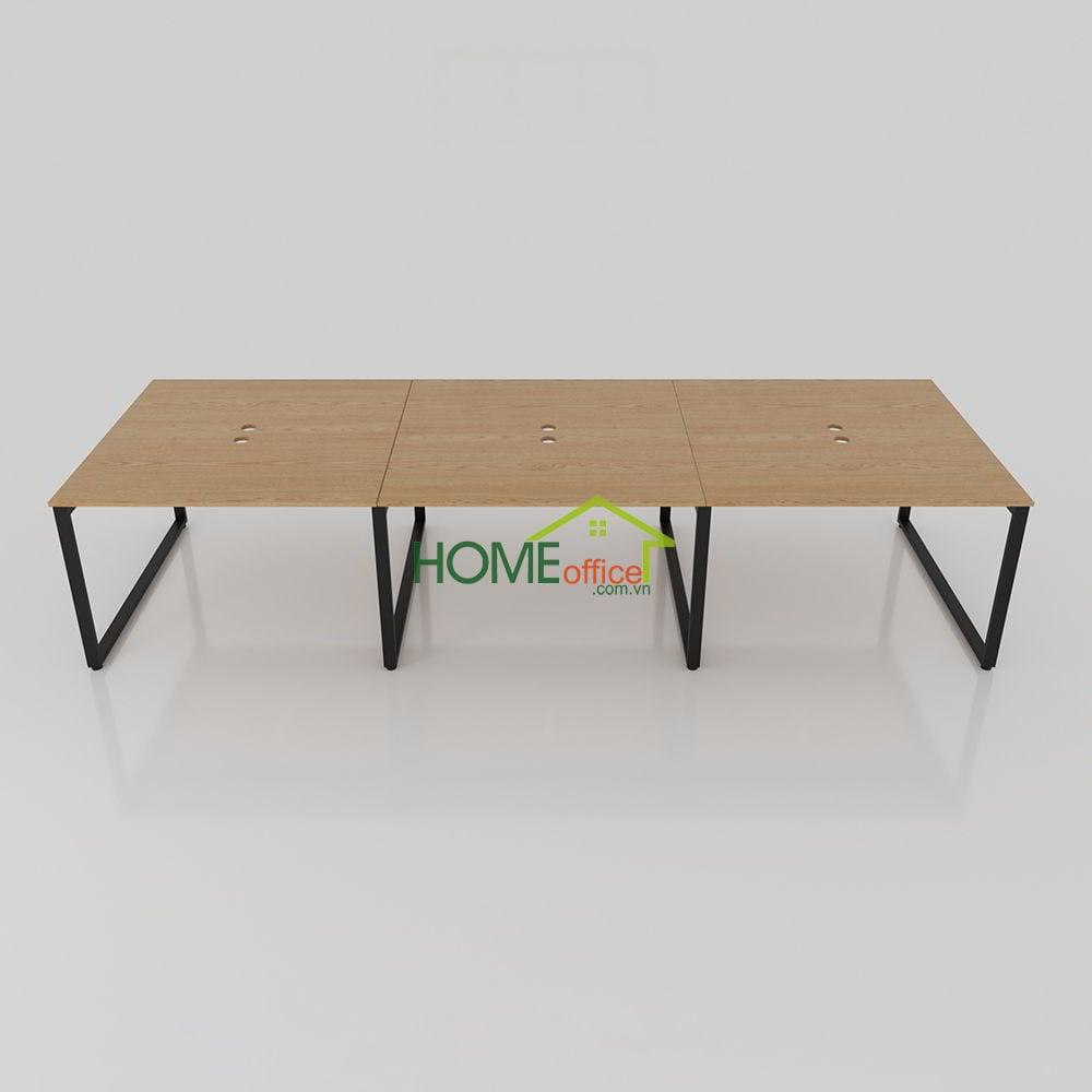 bàn cụm văn phòng dài 3m6 đơn giản mà hiện đại