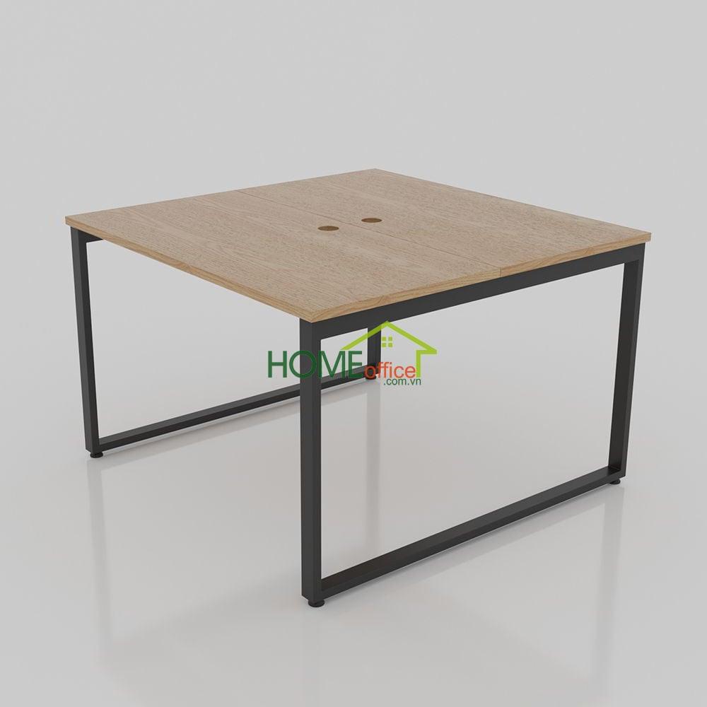 bàn cụm văn phòng 1m4 khung vuông