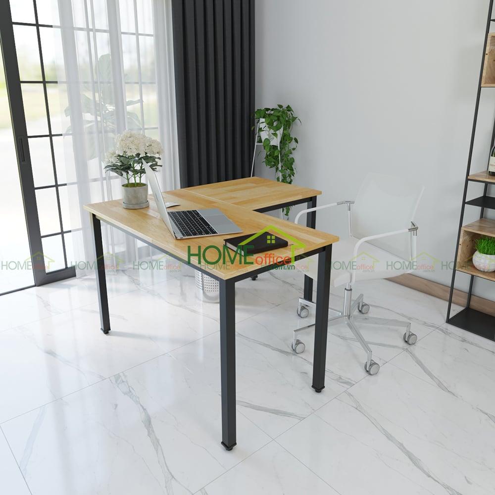 góc làm việc tuyệt đẹp nhờ mẫu bàn làm việc chữ L 1200x1200