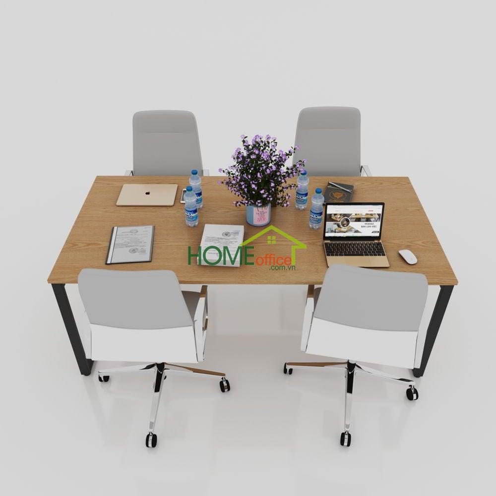 bàn văn phòng sắt lắp ráp hiện đại