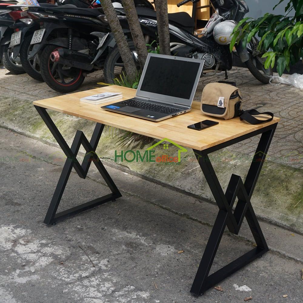 bàn làm việc chân tam giác đôi