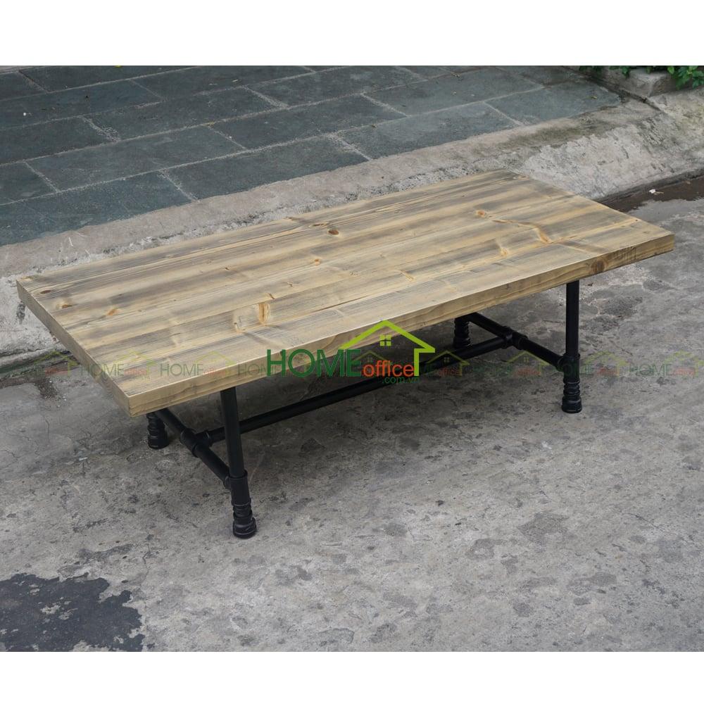 Bàn sofa gỗ thông chân ống nước