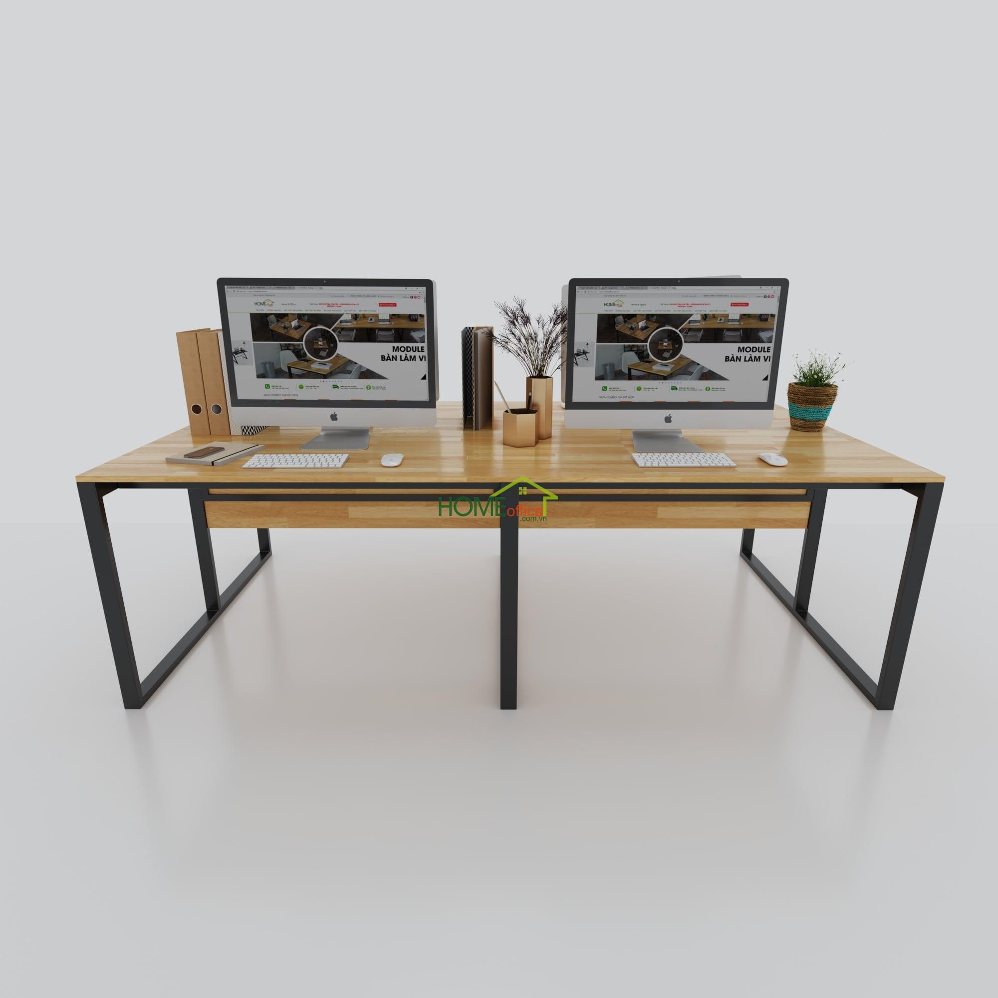 cụm bàn làm việc 4 người