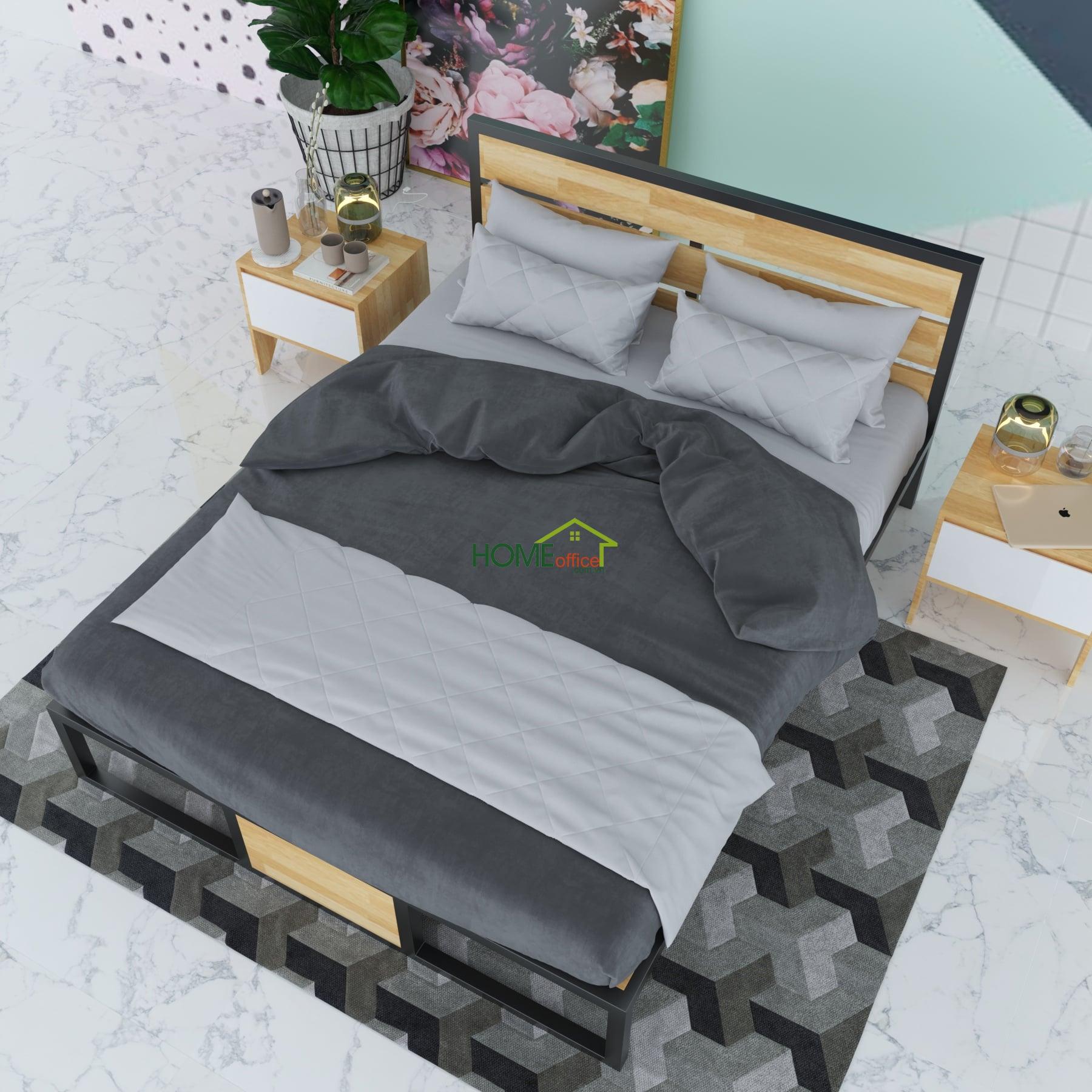 giường khung sắt đơn giản