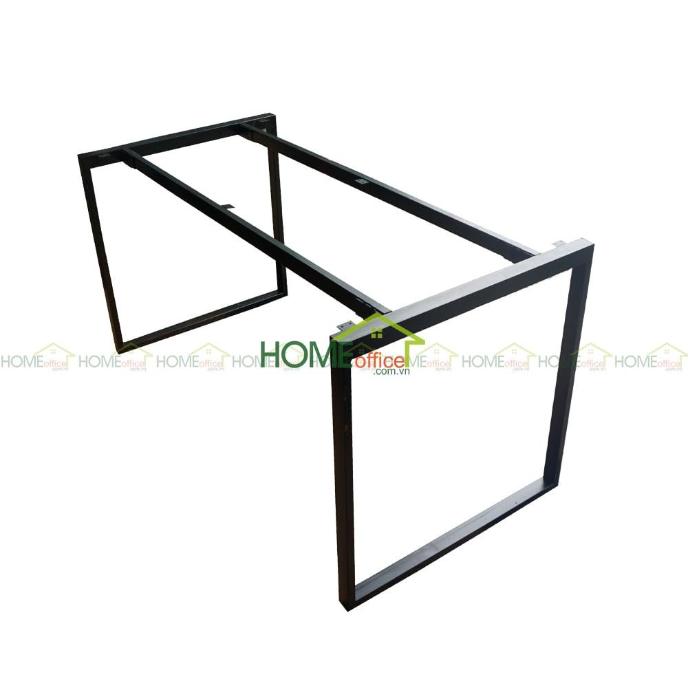 Chân bàn văn phòng 1400x700mm sắt vuông 25x50 lắp ráp