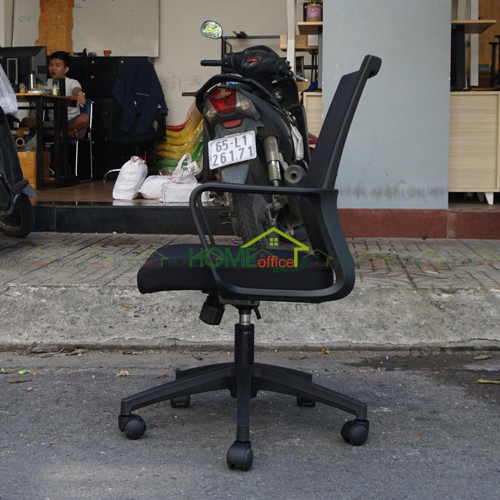 Ghế xoay văn phòng lưng lưới màu đen HOGVP603