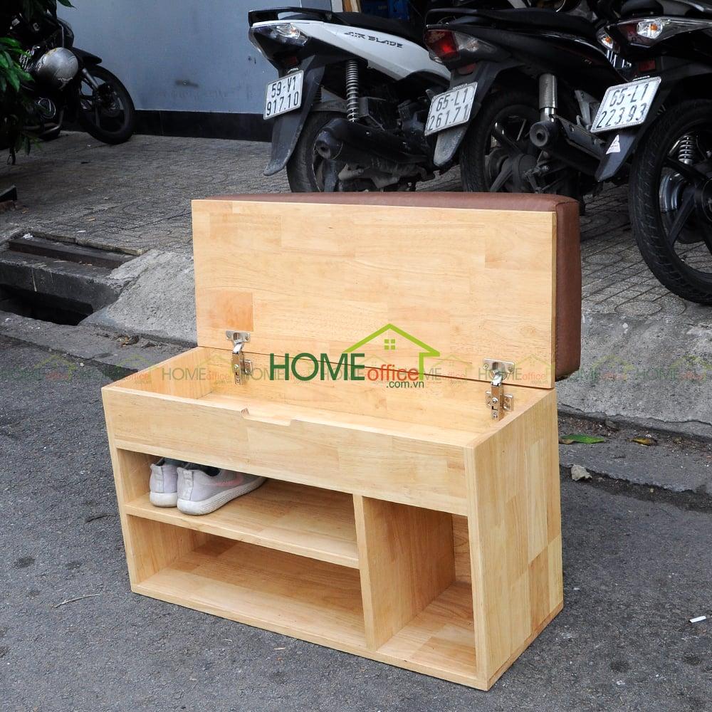 Ghế thay giày gỗ