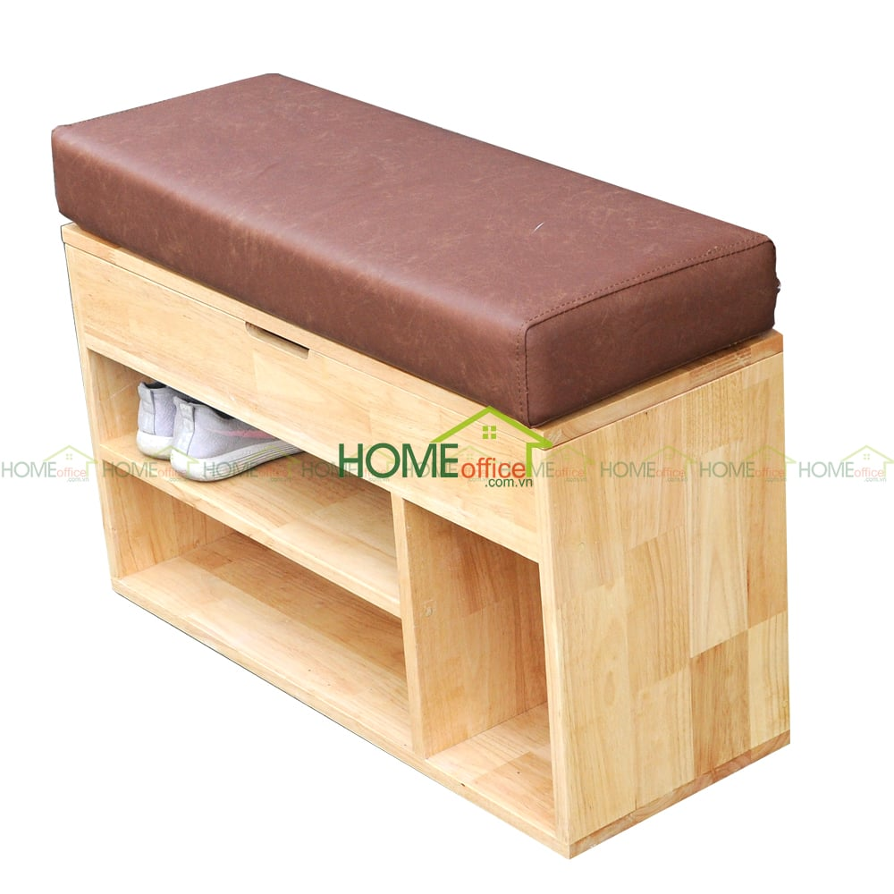 Ghế thay giày gỗ tự nhiên