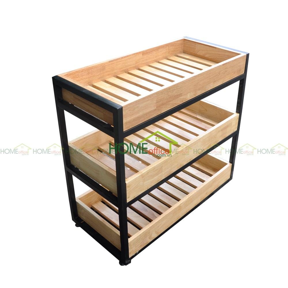 Kệ để đồ nhà bếp gỗ Kitchenshel có bánh xe KB68004