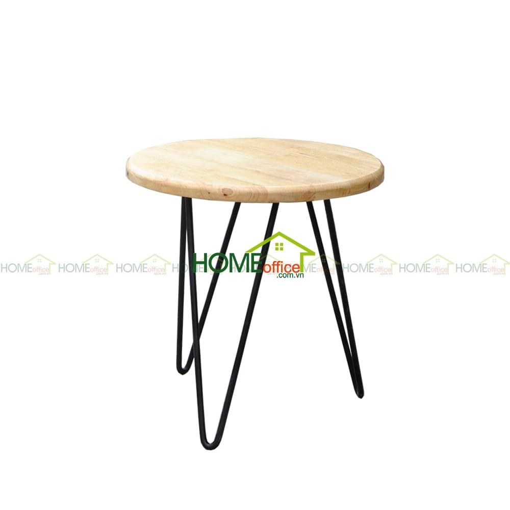 bàn tròn để đầu giường chân sắt