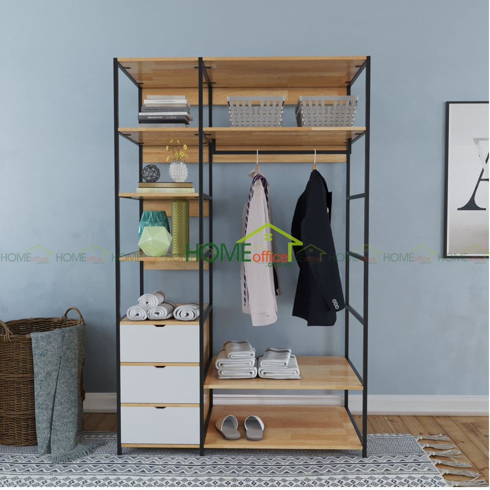 Tủ quần áo không cánh phòng ngủ PINLEG TQA68009