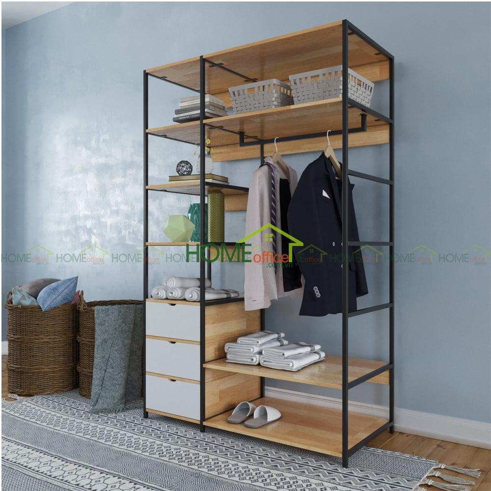 Tủ quần áo không cánh tiện lợi PINLEG TQA68009