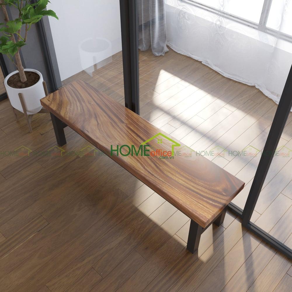 Ghế ăn băng gỗ me tây
