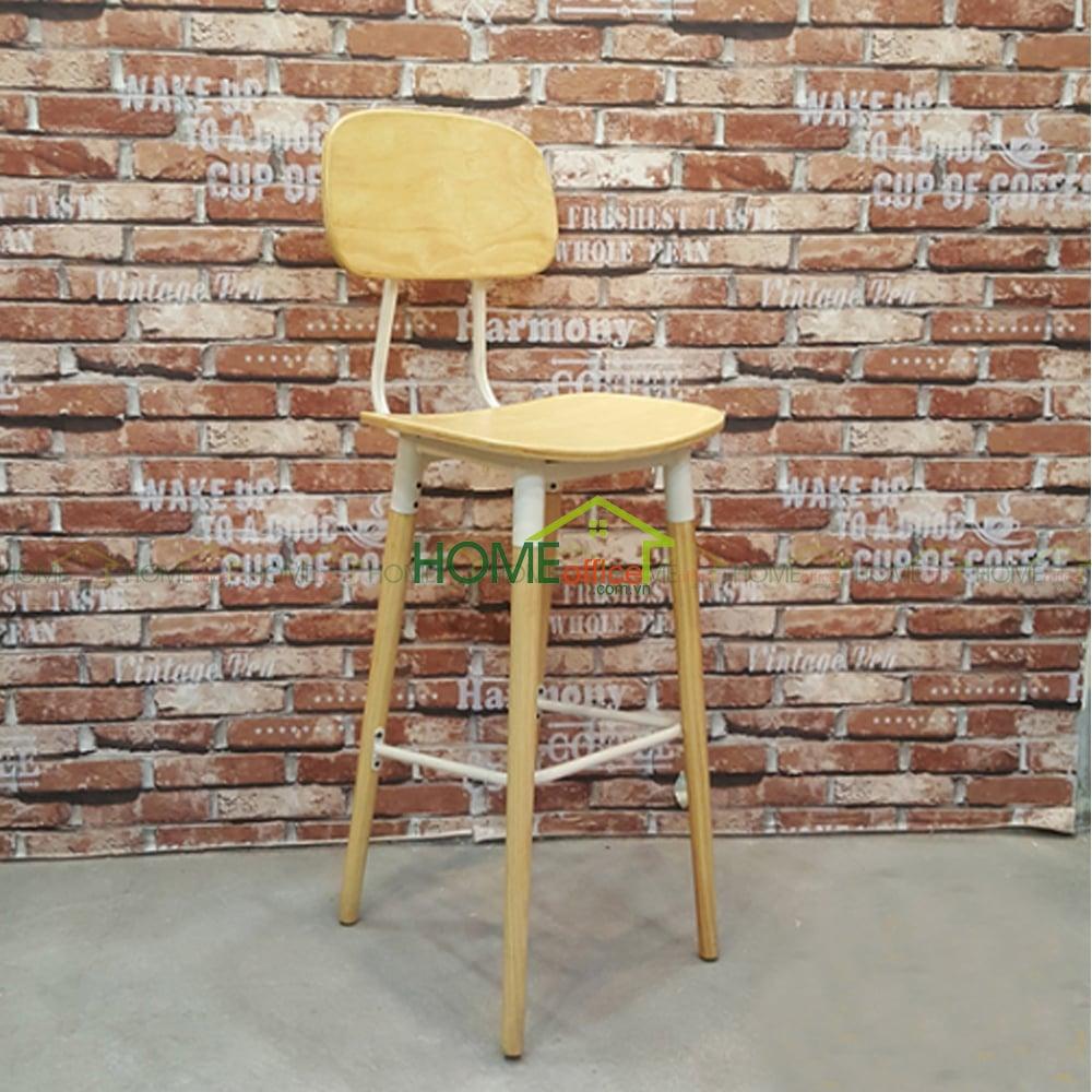 Ghế bar chân gỗ