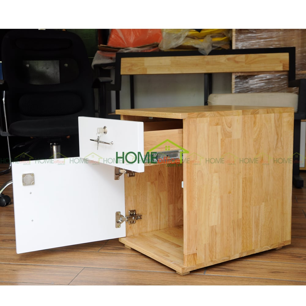 Tủ hồ sơ văn phòng bằng gỗ cao su AA
